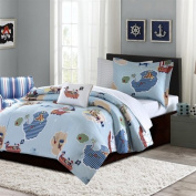 Mi Zone Kids Ahoy Matey Complete Bed And Sheet Set Blue Full