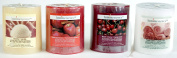 Luminessence(tm) Assorted Scented Pillar Candles, 4 Pillar Candles in Each Pack -Wonderful Aroma - Long Lasting - Inexpensive - Vanilla - Black Cherry - Apple Cinnamon - Fresh Linen, Soy Wax Candles