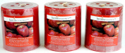 Luminessence(Tm) Apple Cinnamon Scented Pillar Candles, 3 Pillar Candles In Each Pack - - Wonderful Aroma - Long Lasting - Inexpensive - Each Soy Wax Candle Has A Wonderful Apple Cinnamon Scent