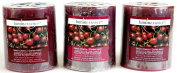 Luminessence(Tm) Black Cherry Scented Pillar Candles, 3 Pillar Candles In Each Pack - - Wonderful Aroma - Long Lasting - Inexpensive - Each Soy Wax Candle Has A Wonderful Black Cherry Scent