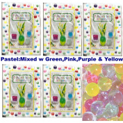 5 Pack of Crystal Jelly Decor Colourful Beads (Tm) - Water Pearl for Party Centrepieces ,Floral Arrangements. Makes 45 Cups