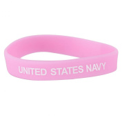 Navy Silicone Wristband - Pink W01S43A