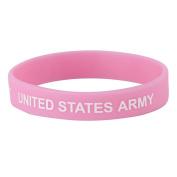 Army Silicone Wristband - Pink W01S43F
