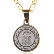 Small Gold Pt Yasin Yaseen Quran Necklace Islamic Chain Islam Allah Muslim