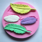 Feathers 4 Cavity Silicone Mould for Fondant, Gum Paste Chocolate Crafts