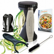 Premium Vegetable Spiralizer Bundle - Best Spiral Slicer with Ceramic Peeler & Recipe Ebook - Zucchini Pasta Spaghetti Maker