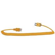 Digi-Sense Type-K, Coiled Ext Cable, Male Mini Conn To Male Mini Conn, 1.5m L