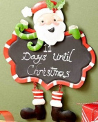 Festive Holiday Santa Chalkboard - 23cm X 30cm
