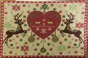 Set of 4 Tapestry Placemats Reindeer Ornaments