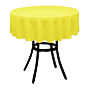 Round Polyester Tablecloth 150cm (LEMON) By Runner Linens Factory