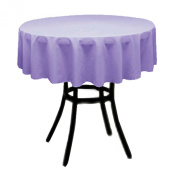 Round Polyester Tablecloth 150cm (LAVENDER) By Runner Linens Factory