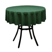 Round Polyester Tablecloth 150cm (HUNTER GREEN) By Runner Linens Factory