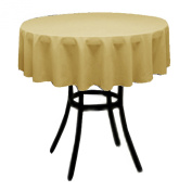 Round Polyester Tablecloth 150cm (GOLD) By Runner Linens Factory