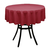 Round Polyester Tablecloth 150cm (CRANBERRY) By Runner Linens Factory