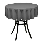 Round Polyester Tablecloth 150cm (CHARCOAL) By Runner Linens Factory
