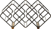Gourmet Basics by Mikasa 12 Stackable Bottle Wine Rack with Antique and Acacia Wood, Black