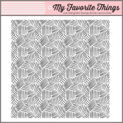 My Favourite Things Rubber Stamp - BG Etched Tribal Background