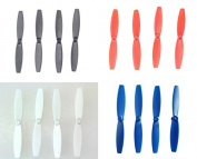 Anbee® 4 Colours Propellers Props Combo for Parrot Minidrones Rolling Spider, Airborne Cargo Drone, Airborne Night Drone, Hydrofoil Drone (Colours
