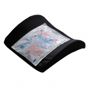 AlexOrthopedic Bucket Seat Lumbar Cushion With Hot/Cold Pack Black
