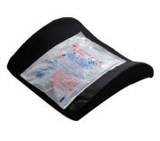 AlexOrthopedic Lumbar Cushion With Hot/Cold Pack Black