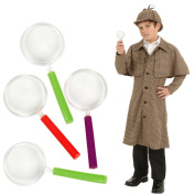 Toy Cubby Toy Plastic Colourful Party Favours Magnifying Glasses - 24 pcs