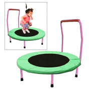 Toy Cubby Foldable Junior Trampolines with Safety Handles.