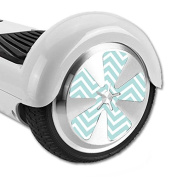 MightySkins Protective Vinyl Skin Decal for Hoverboard Balance Board Scooter Wheels mini board unicycle bluetooth wrap cover sticker Aqua Chevron