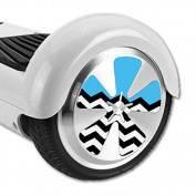 MightySkins Protective Vinyl Skin Decal for Hoverboard Balance Board Scooter Wheels mini board unicycle bluetooth wrap cover sticker Baby Blue Chevron
