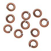 Nunn Design Findings, 5mm 18 Gauge Open Jump Rings, 10 Pieces, Antiqued Copper