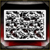 Skull Background 7 AirSick Airbrush Stencil Template
