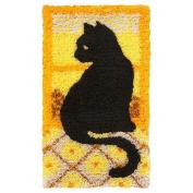 Window Cat Silhouette Latch Hook Rug Kit