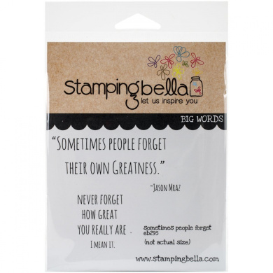 Stamping Bella Cling Rubber Stamp 17cm x 11cm -Sometimes People Forget