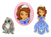 Dress It Up 7736 Disney Button Embellishments, Sofia The First