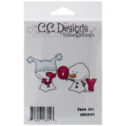 C.C. Designs Meoples Cling Stamp, 9.5cm by 6.4cm , Snow Joy