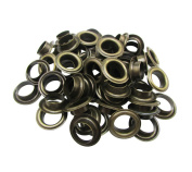 Amanaote 13.5mm Internal Hole Diameter Bronze Eyelets Grommets with Washer Self Backing Pack of 50 Sets