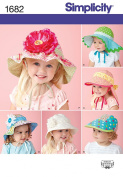 SIMPLICITY 1682 CHILD'S HAT IN 4 SIZES (6 STYLES) ~ SEWING PATTERN