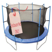 Upper Bounce 4m Trampoline Enclosure Safety Net for Round Frames Using 8 Poles or 4 Arches