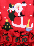 One Green & Red Felt Hanging Christmas Advent Calendar - 43cm