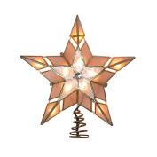 Kurt Adler UL 10-Light Capiz Star Treetop with Gem, 24cm
