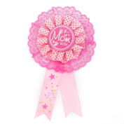 Mom To Be Writing Award Badge for Baby Shower Party Favour Pink