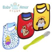 Cute Baby Bibs - Unisex Soft Waterproof Drool Bibs Pack, Cotton Made With hook and loop
