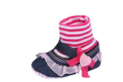 JTC Baby Girls Jeans T- Strap Shoes Pink Lace Bowknot Princess High Boots