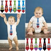 MyLilSprouts Monthly Baby Newborn MileStone Neck Tie Stickers 1 - 12 Months Set - Baby Shower Gift