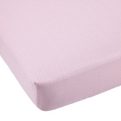 Balboa Baby Cotton Sateen Fitted Crib Sheet - Pink and White Dot