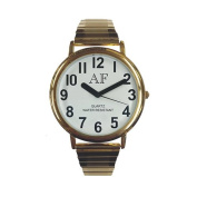 Unisex LV Gold Tone Watch w/White Face