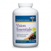 Dr. Whitaker's Vision Essentials Supplement Includes Lutein and Black Currant Plus 16 Powerful Nutrients for Total Eye Health, 360 Capsules