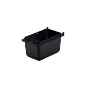 Server Products 87202 7.6cm - 1.3cm Deep 1/9-Size Black Plastic Jar