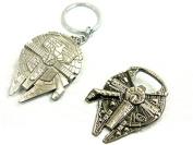 Star Wars (2 Piece Set) Millenium Falcon Bottle Opener and Keychain