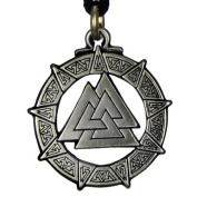 Valknut Warrior's Knot Pendant Valkyrie Viking Pendant Asatru Jewellery