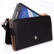 Kroo Apple iPhone 6 6s, iPhone 6 6s Plus Case   Timeless Black Smartphone Wallet with Strap for Woman